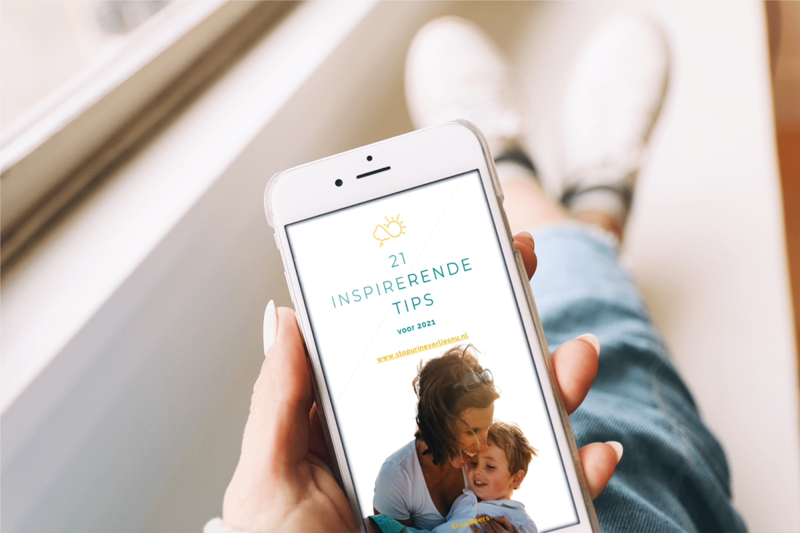 21 tips voor 2021 e-boek op smart phone